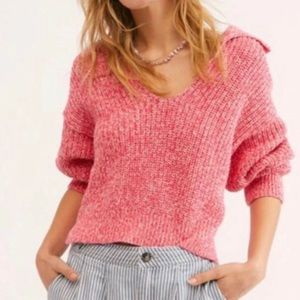 NWOT Free People Pink Slouchy Sweater